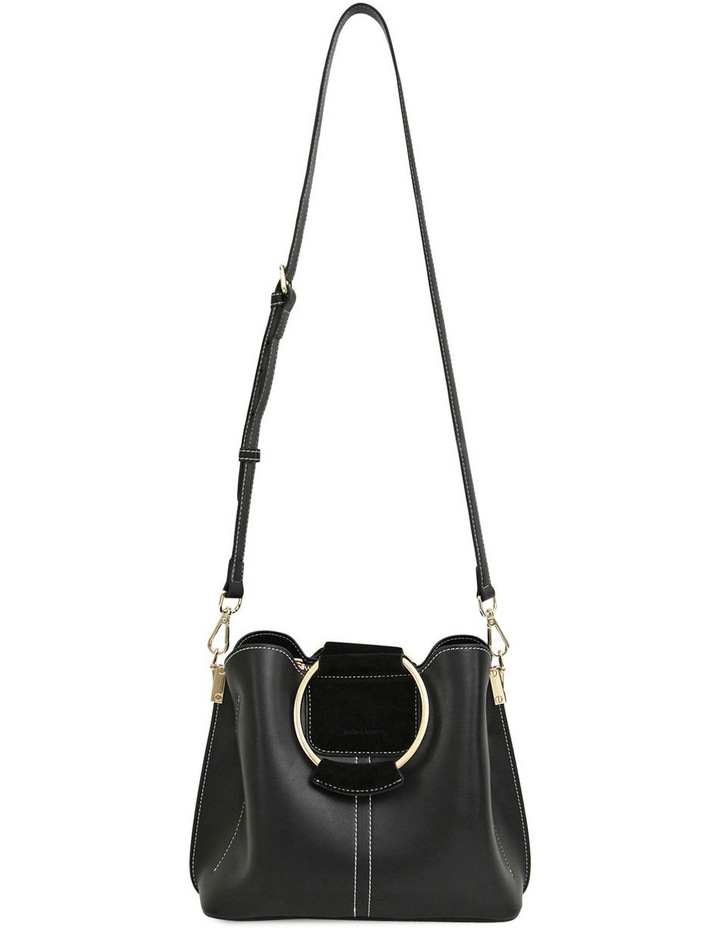 Twilight Leather Cross Body Bag Black image 3