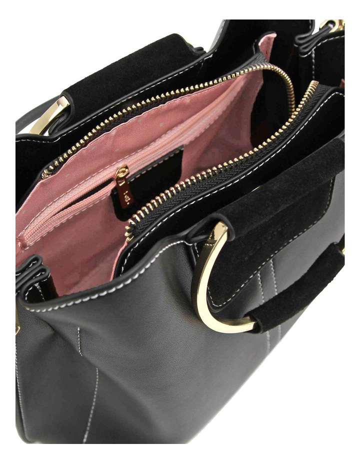 Twilight Leather Cross Body Bag Black image 4