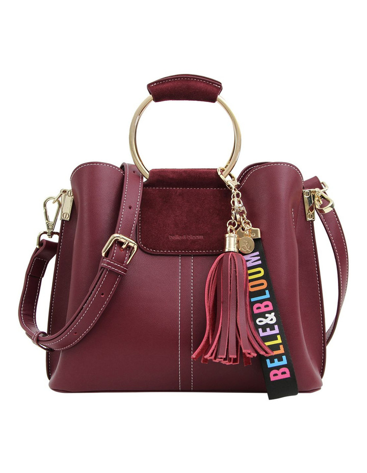 Twilight Leather Cross Body Bag Wine image 1