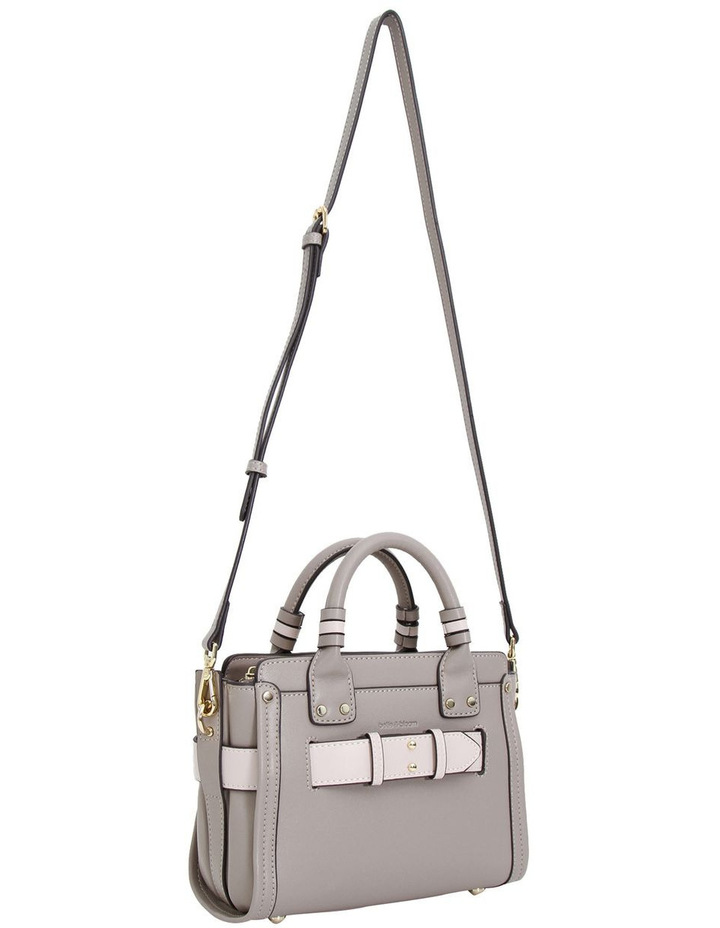 Ally Leather Satchel Grey image 3