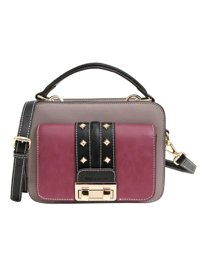 Frenchie Lover Leather Cross Body Bag Grey/Purple image 1
