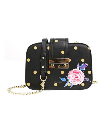 b8d7a9863e72 Belle   BloomBelle Fleur Leather Cross Body Bag Black Print. Belle   Bloom  Belle Fleur Leather Cross Body Bag Black Print