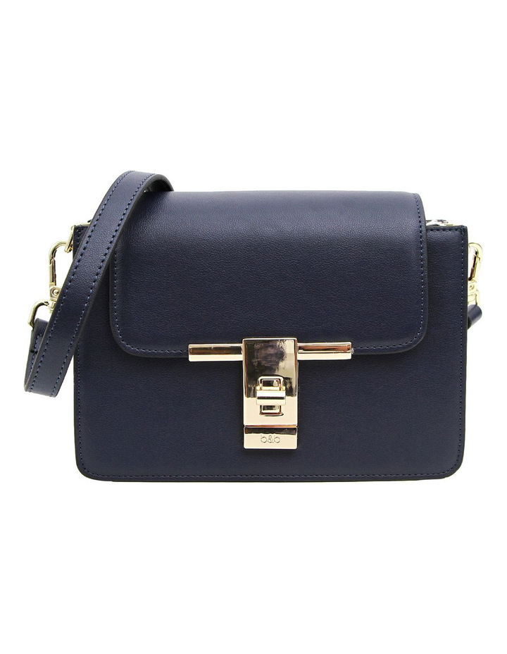 Seattle Night Leather Cross Body Bag Navy image 1