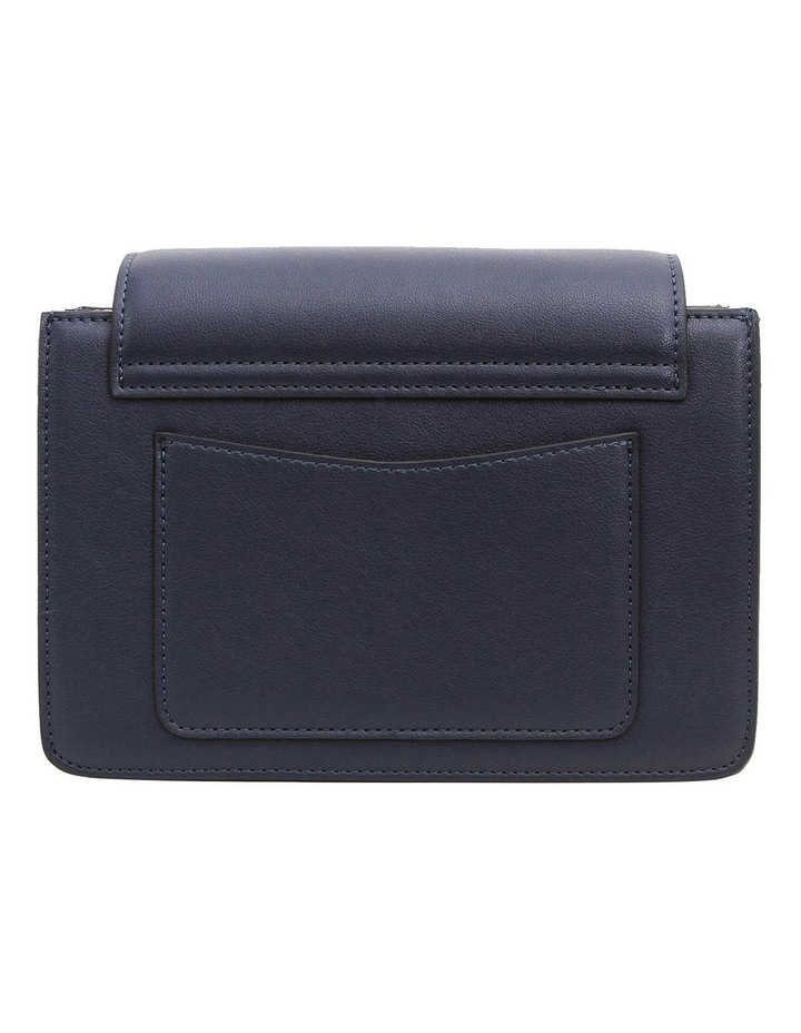 Seattle Night Leather Cross Body Bag Navy image 2
