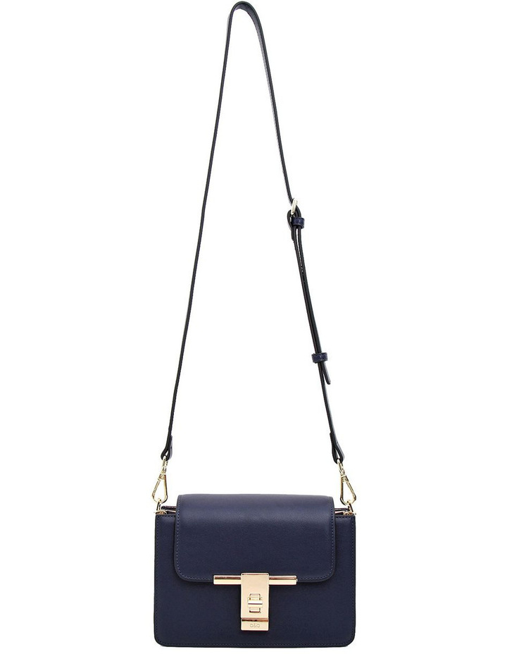 Seattle Night Leather Cross Body Bag Navy image 3