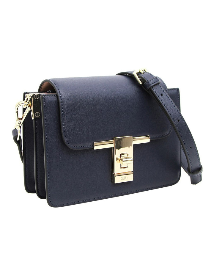 Seattle Night Leather Cross Body Bag Navy image 5