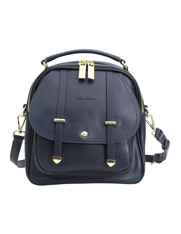 Camila Leather Backpack Navy image 1