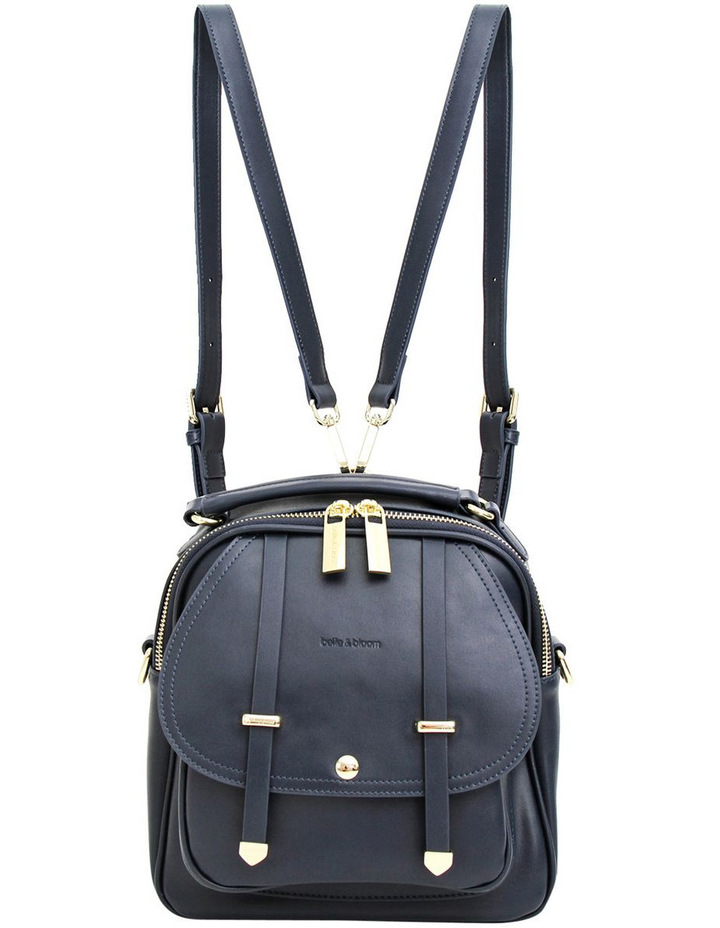 Camila Leather Backpack Navy image 2