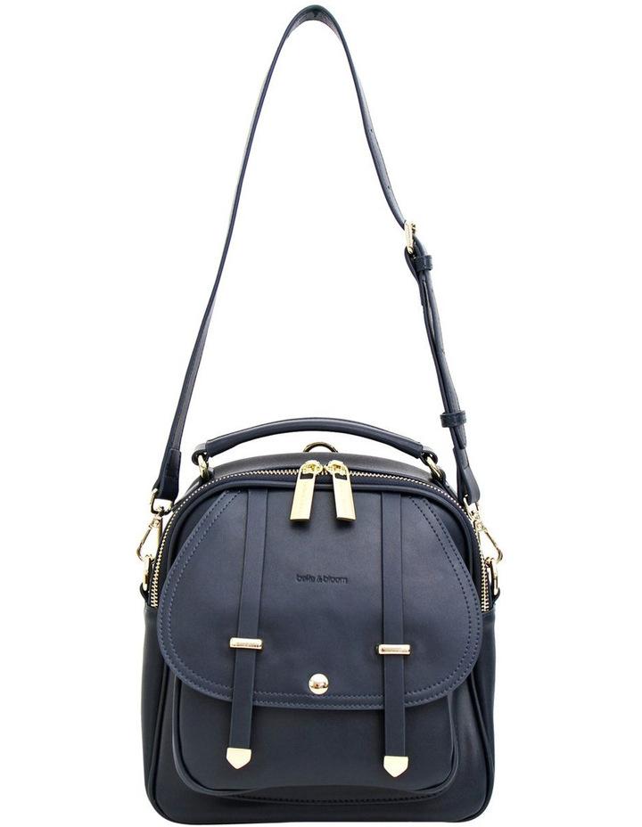 Camila Leather Backpack Navy image 3