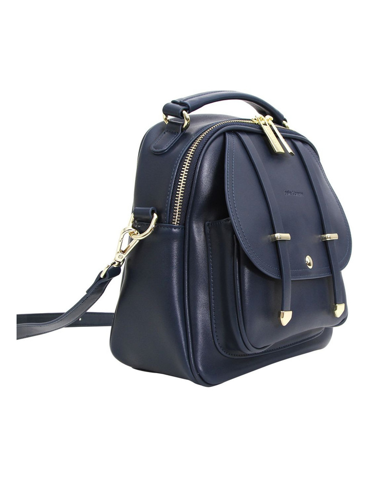Camila Leather Backpack Navy image 4