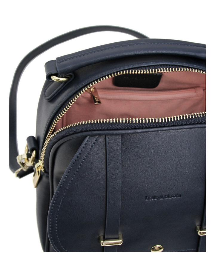 Camila Leather Backpack Navy image 5