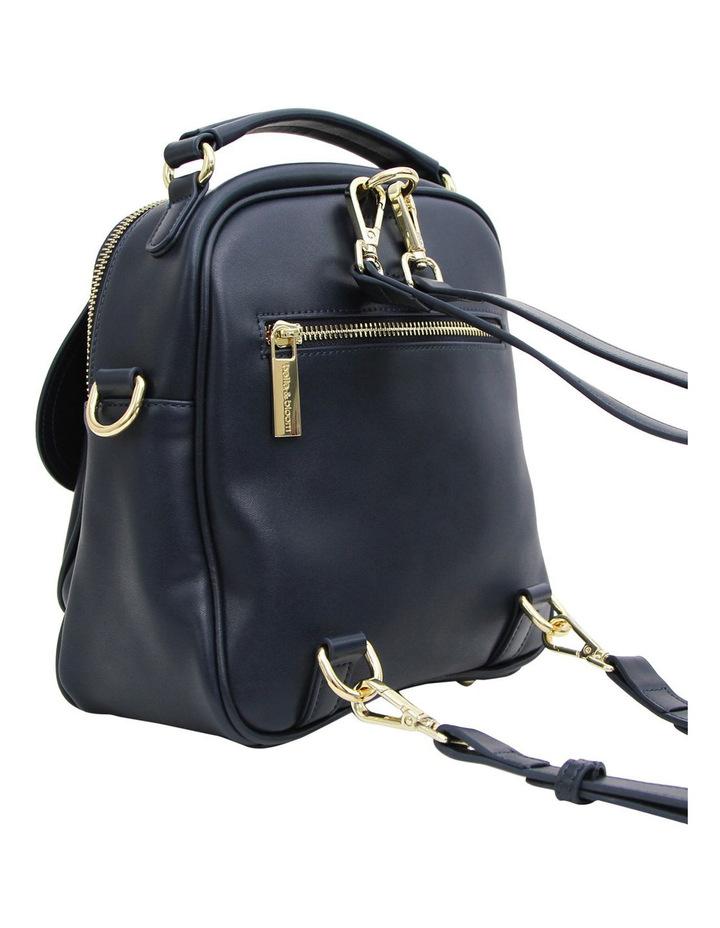 Camila Leather Backpack Navy image 6