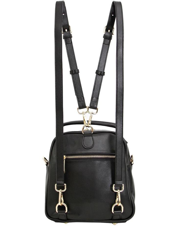 Camila Leather Backpack Black image 3