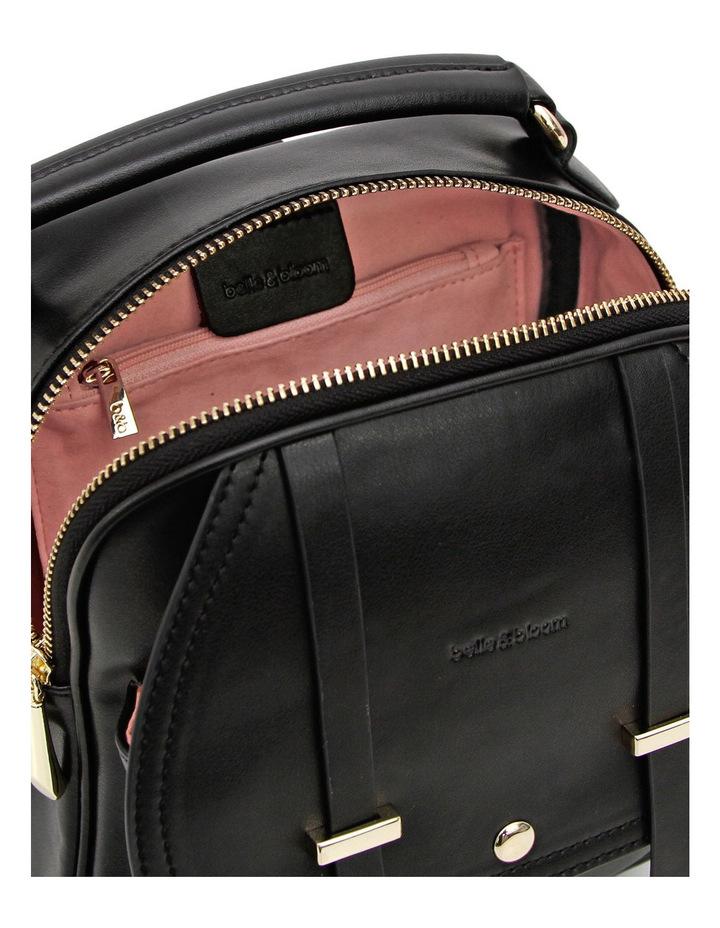Camila Leather Backpack Black image 4