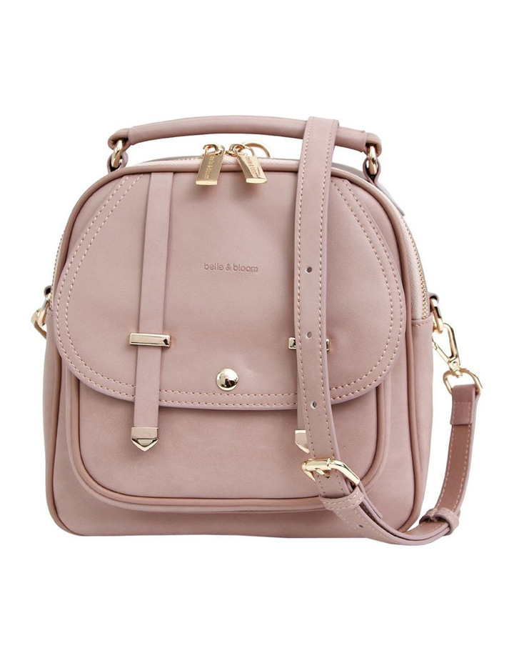 Camila Leather Backpack Dusty Pink image 1