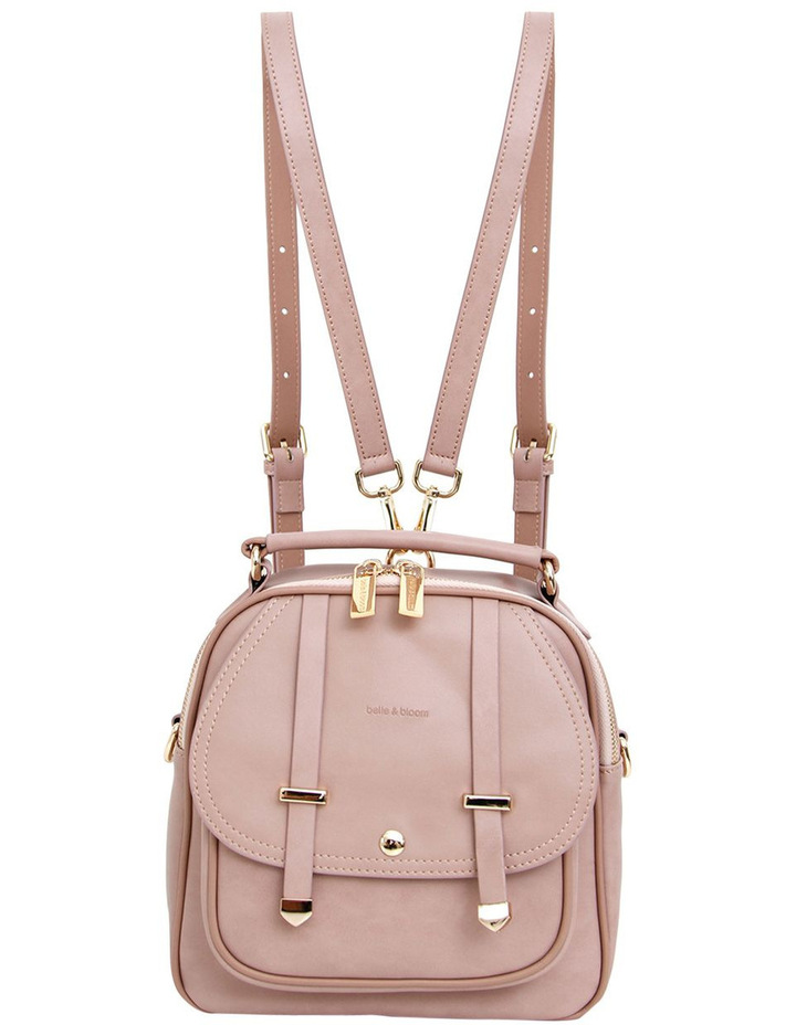 Camila Leather Backpack Dusty Pink image 3