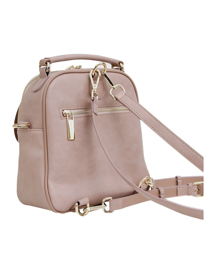 Camila Leather Backpack Dusty Pink image 5