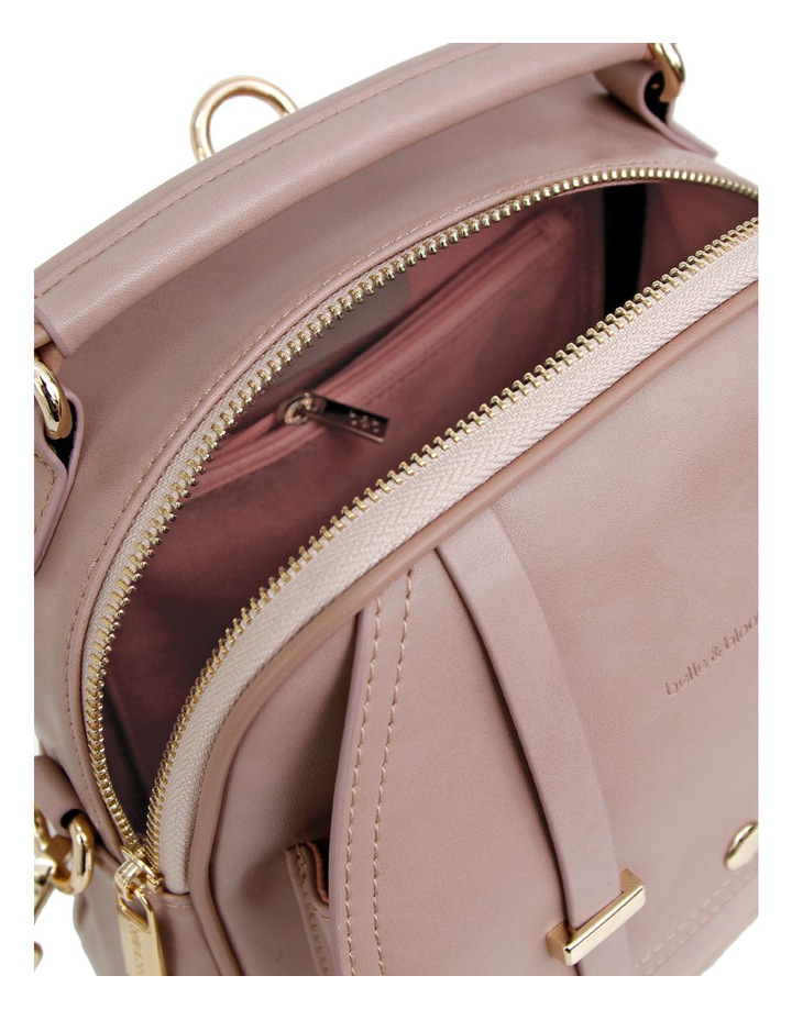 Camila Leather Backpack Dusty Pink image 6