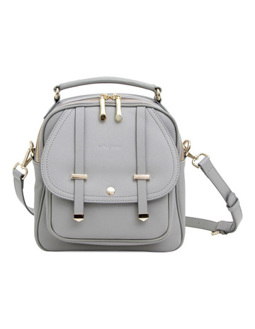 39064814479 Belle   BloomCamila Leather Backpack Grey
