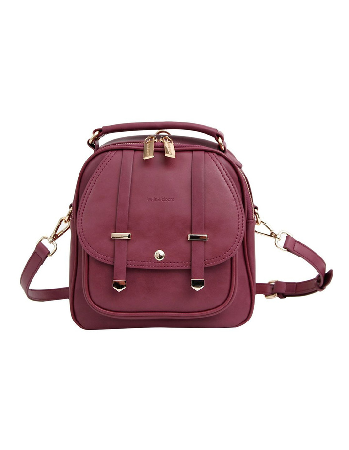 Camila Leather Backpack Purple image 1