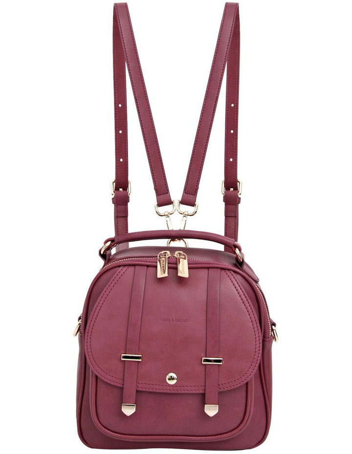 Camila Leather Backpack Purple image 2