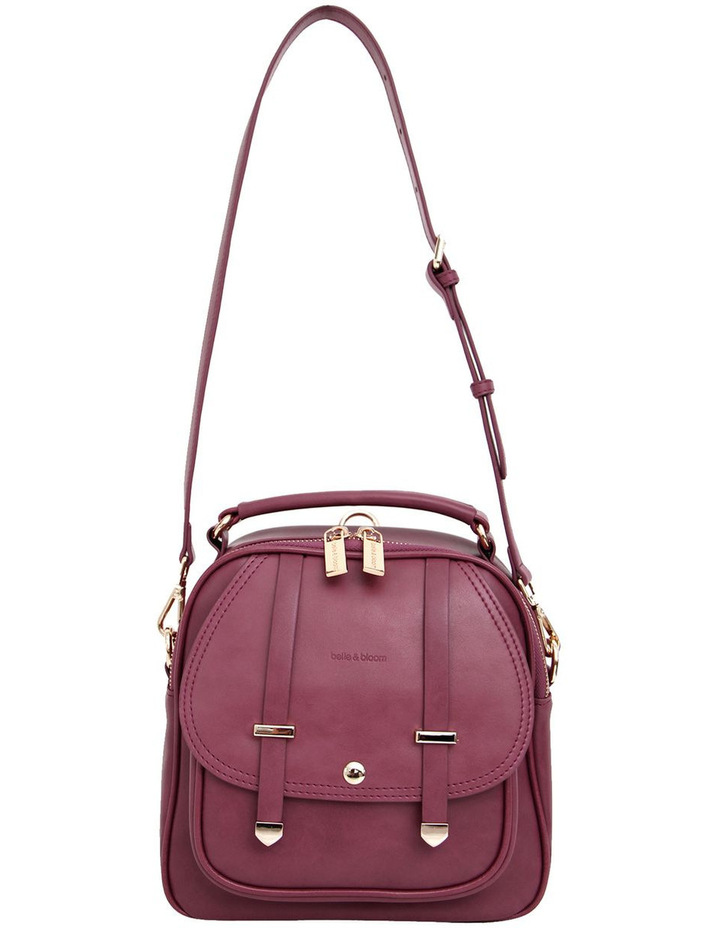 Camila Leather Backpack Purple image 3