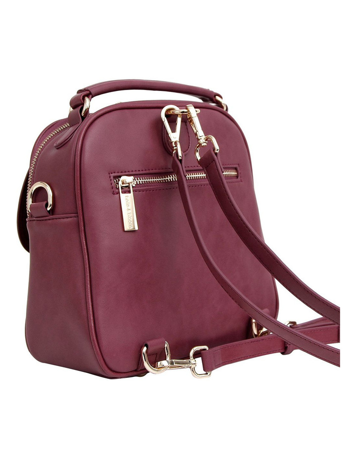 Camila Leather Backpack Purple image 4