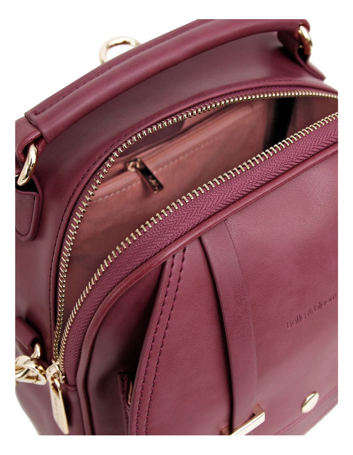 Camila Leather Backpack Purple image 5