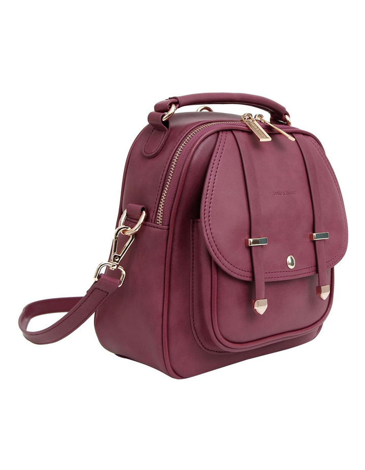 Camila Leather Backpack Purple image 6