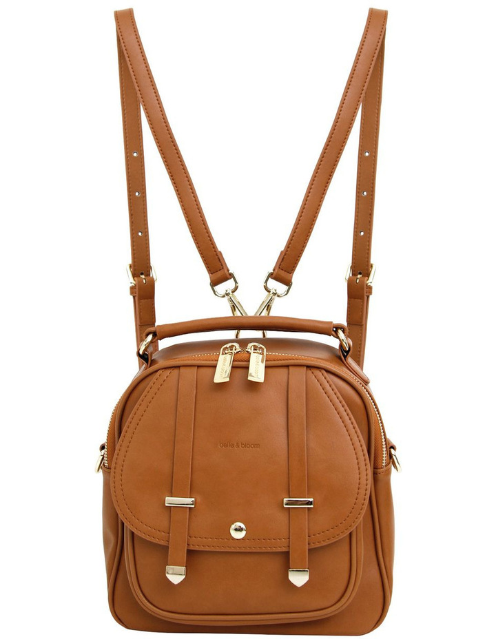 Camila Leather Backpack Brown image 2