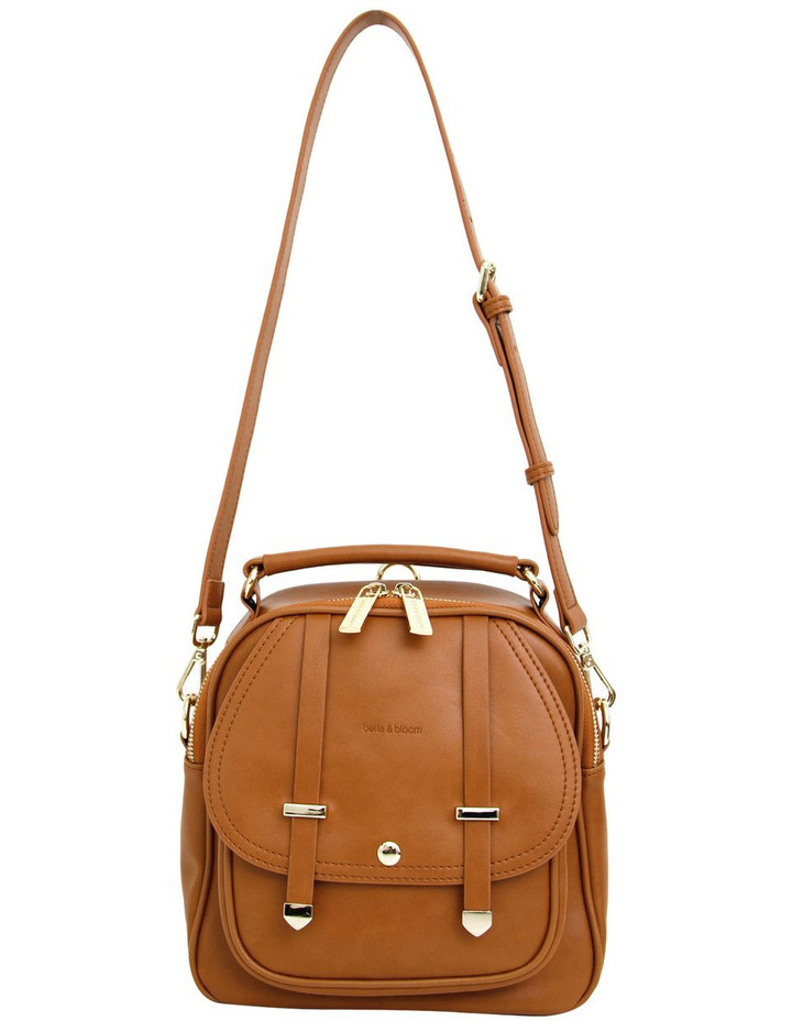 Camila Leather Backpack Brown image 3