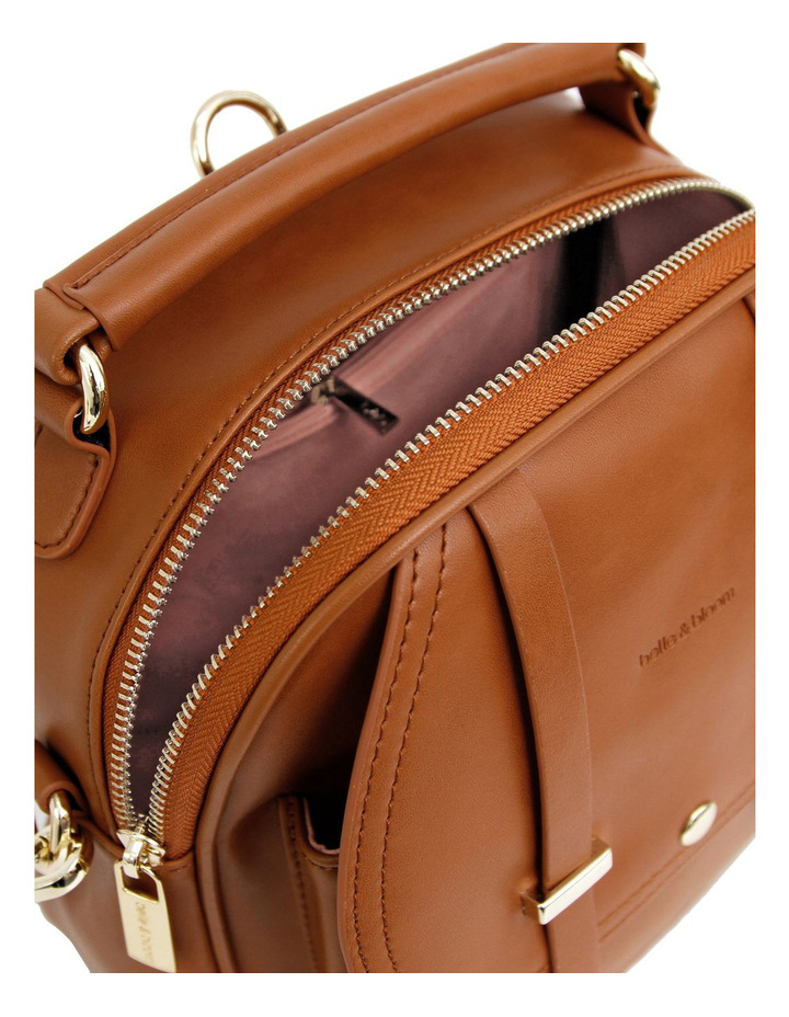 Camila Leather Backpack Brown image 4