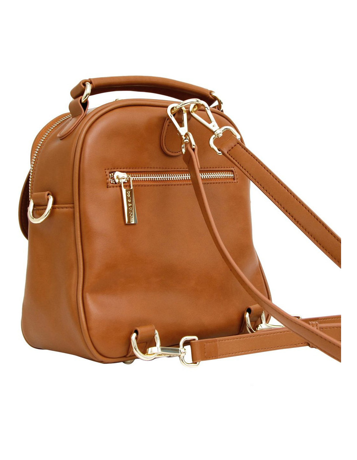 Camila Leather Backpack Brown image 5