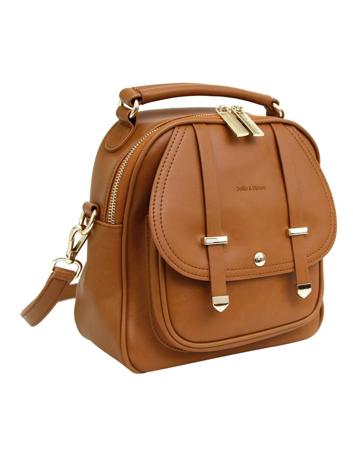 Camila Leather Backpack Brown image 6