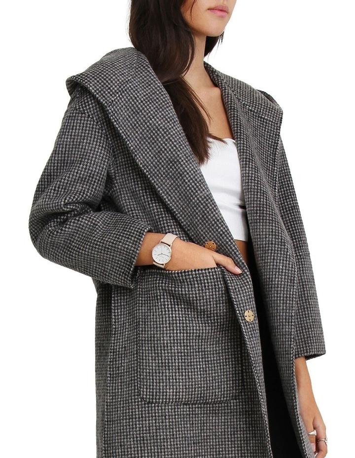 Walk This Way Wool Blend Black/White Oversized Coat image 4