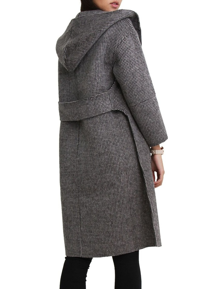 Walk This Way Wool Blend Black/White Oversized Coat image 5
