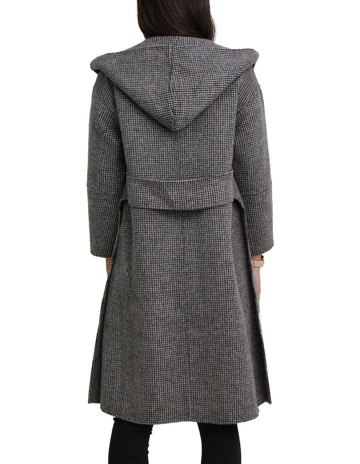 Walk This Way Wool Blend Black/White Oversized Coat image 6