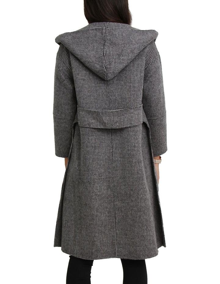 Walk This Way Wool Blend Black/White Oversized Coat image 7