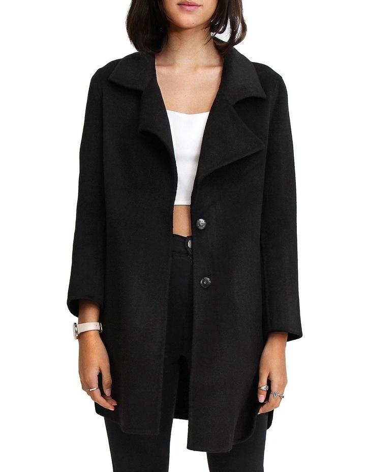 Ex-Boyfriend Black Wool Blend Oversized Jacket image 1