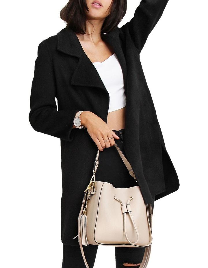 Ex-Boyfriend Black Wool Blend Oversized Jacket image 3