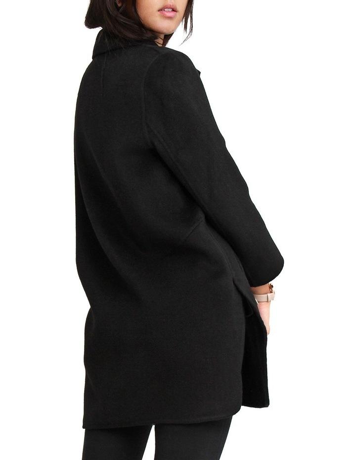 Ex-Boyfriend Black Wool Blend Oversized Jacket image 4
