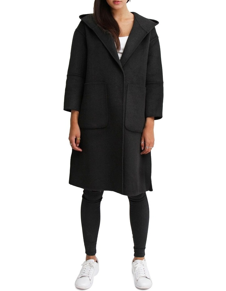 Walk This Way Black Wool Blend Oversized Coat image 1