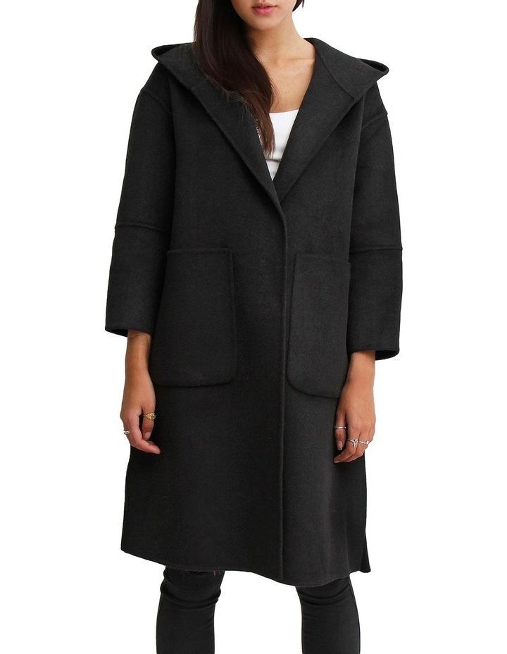Walk This Way Black Wool Blend Oversized Coat image 2