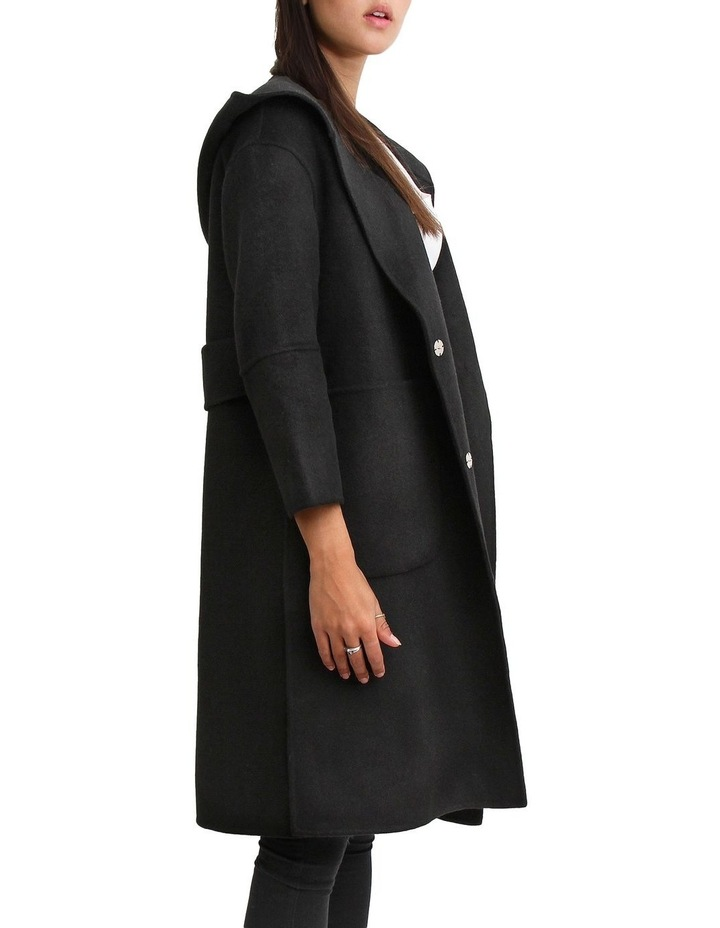 Walk This Way Black Wool Blend Oversized Coat image 3