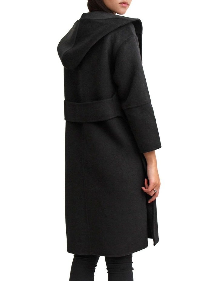 Walk This Way Black Wool Blend Oversized Coat image 4