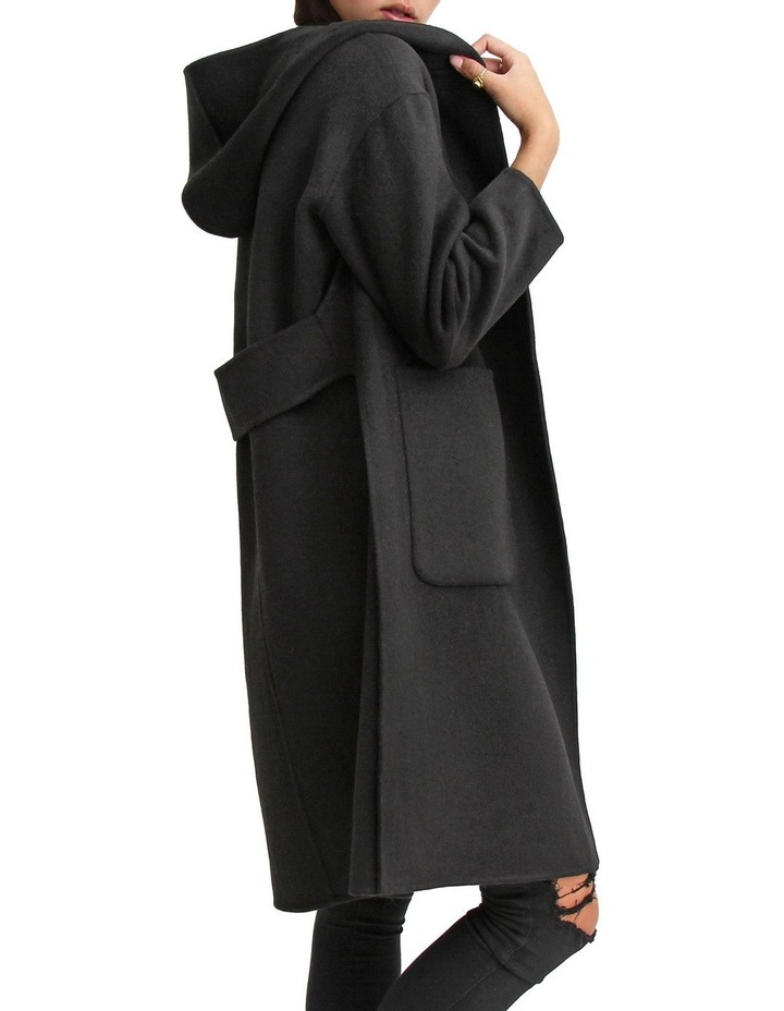 Walk This Way Black Wool Blend Oversized Coat image 5