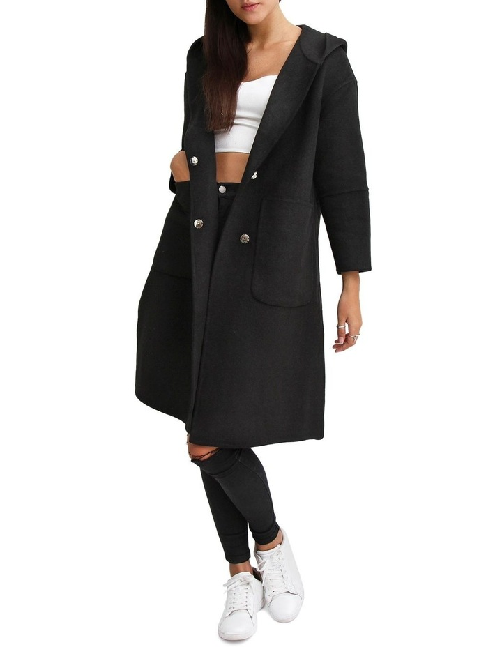 Walk This Way Black Wool Blend Oversized Coat image 6