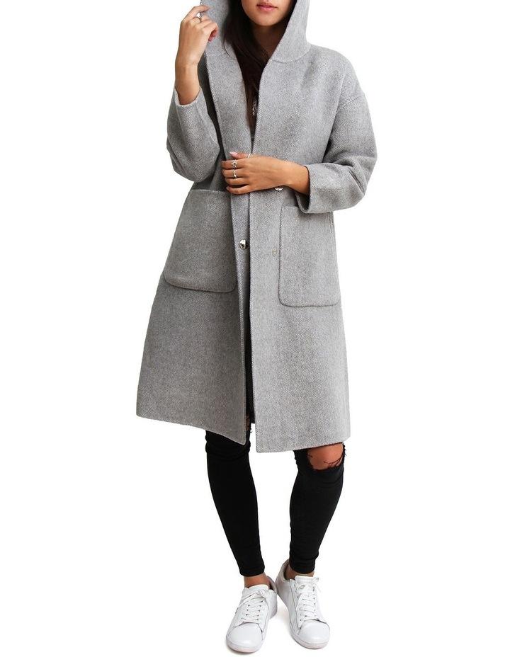 Walk This Way Grey Wool Blend Oversized Coat image 1
