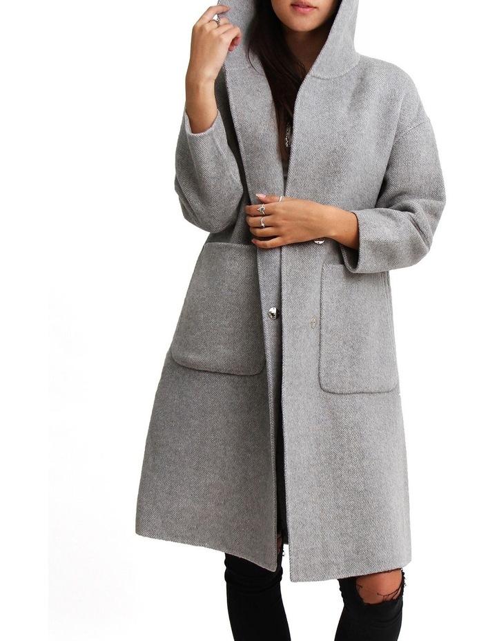 Walk This Way Grey Wool Blend Oversized Coat image 2