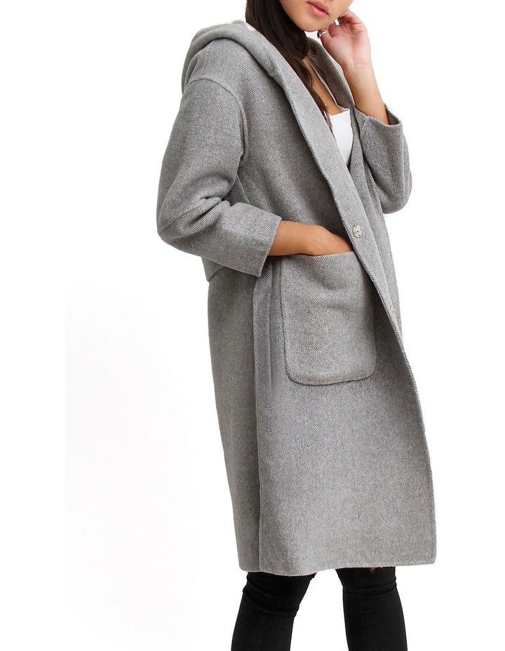 Walk This Way Grey Wool Blend Oversized Coat image 3